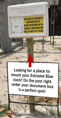 Looking for a place to mount your Extreme Blue clock? On the post below your document box is a perfect spot!
