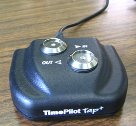 TimePilot Tap used as a desktop time clock.