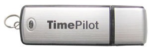 The TimePilot USB Drive is used with TimePilot Vetro and with TimePilot Extreme Blue.