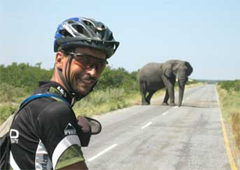 Roadblock in Botswana.