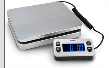 The Royal DG110 Postal/Shipping Scale can handle letters and packages.